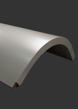 curved composite panel